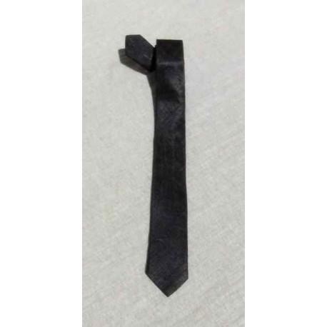 Cravate soie sauvage Noire