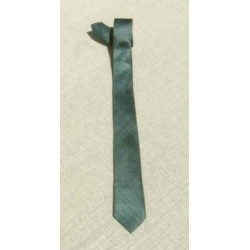 Cravate soie sauvage Grise