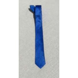 Cravate soie sauvage Bleue Roi