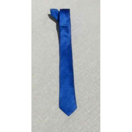 Cravate soie sauvage Bleue Marine